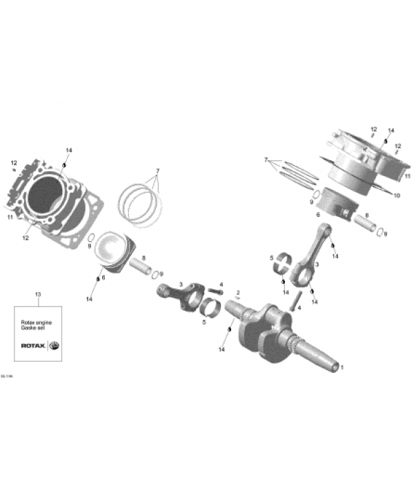Коленвал Rotax V-800