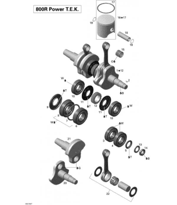 Коленвал Rotax 800 R P T.E.K. 2006-2010 г...